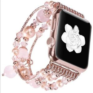 Accessories - Apple Watch Beaded Band Rose Gold series 1/2/3/4